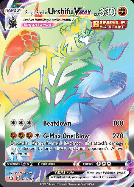 Single Strike Urshifu VMAX Battle Styles 167