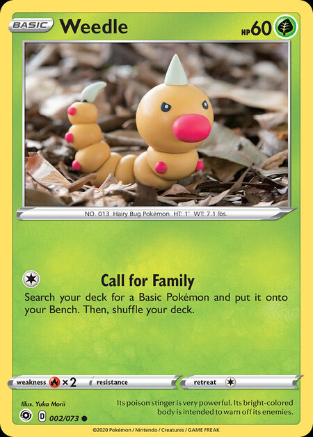 Weedle Champions Path 2