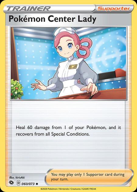 Pokémon Center Lady Champions Path 60