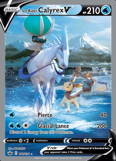 Ice Rider Calyrex V Chilling Reign 164