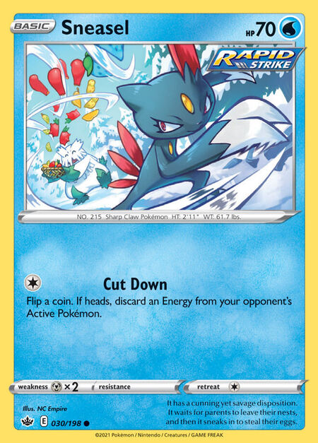 Sneasel Chilling Reign 30