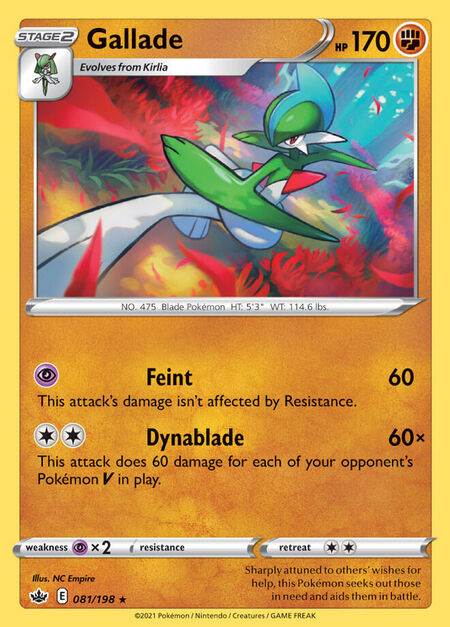 Gallade Chilling Reign 81