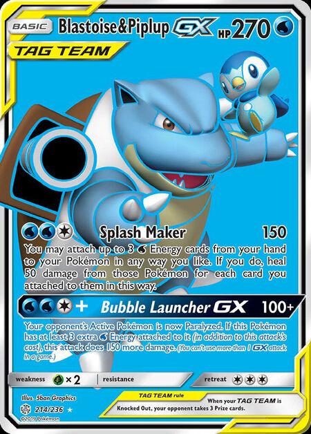 Blastoise & Piplup-GX Cosmic Eclipse 214