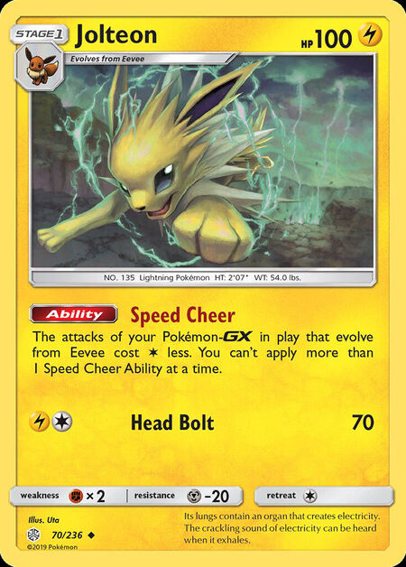 Jolteon Cosmic Eclipse 70