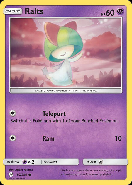 Ralts Cosmic Eclipse 80
