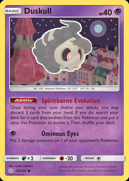 Duskull Cosmic Eclipse 83