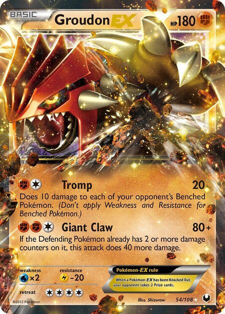 Groudon-EX Dark Explorers 54