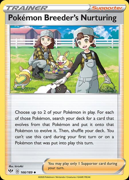 Pokémon Breeder's Nurturing Darkness Ablaze 166