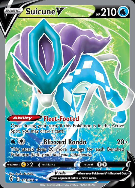 Suicune V Evolving Skies 173