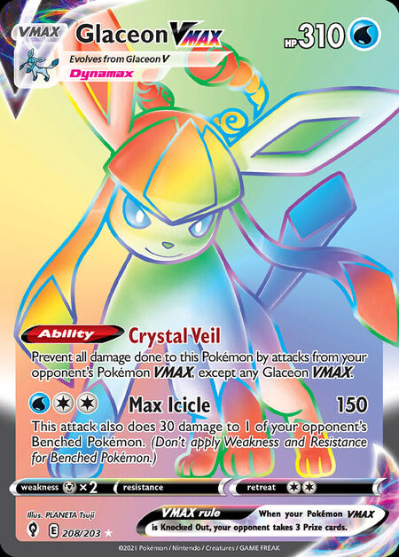 Glaceon VMAX Evolving Skies 208