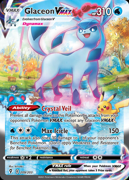 Glaceon VMAX Evolving Skies 209
