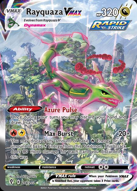 Rayquaza VMAX Evolving Skies 218