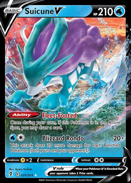 Suicune V Evolving Skies 31