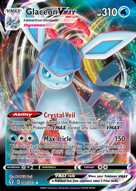 Glaceon VMAX Evolving Skies 41