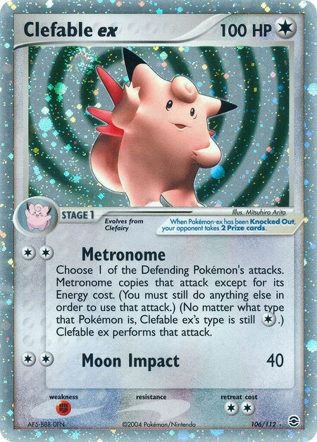 Clefable ex FireRed & LeafGreen 106