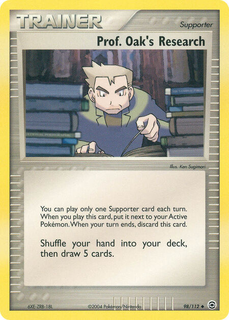 Prof. Oak's Research FireRed & LeafGreen 98