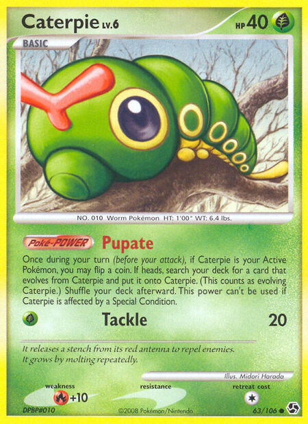 Caterpie Great Encounters 63