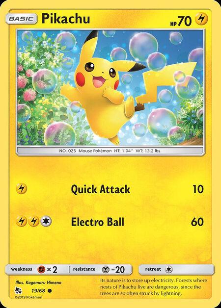 Pikachu Hidden Fates 19