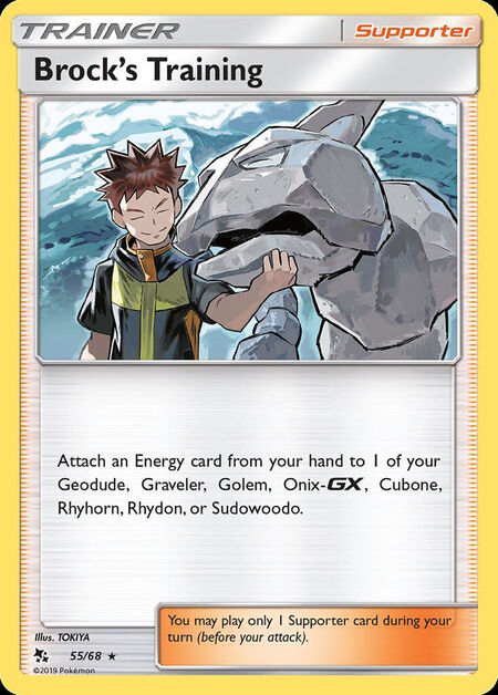 Brock's Training Hidden Fates 55