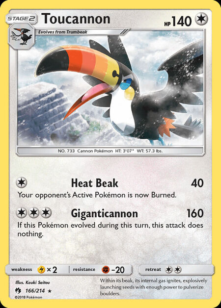 Toucannon Lost Thunder 166