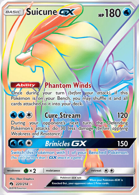Suicune-GX Lost Thunder 220