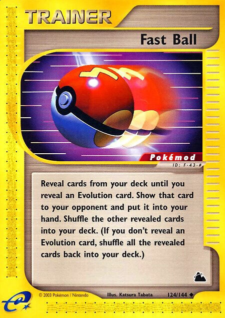 Fast Ball Pokémod Skyridge 124