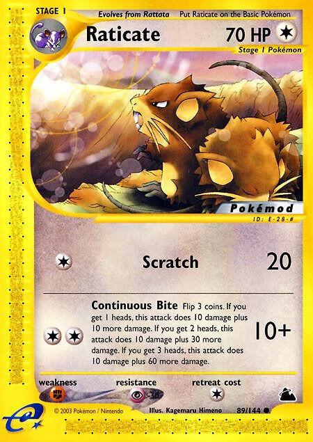 Raticate Pokémod Skyridge 89