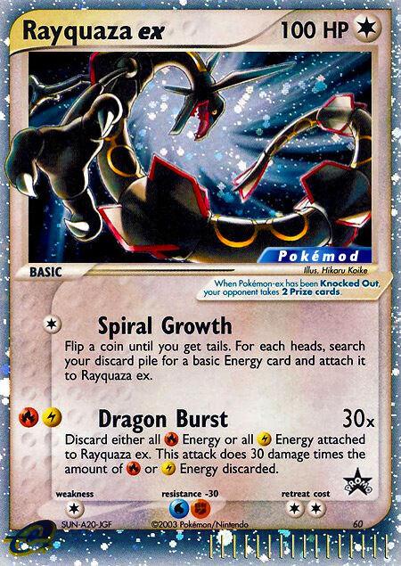 Rayquaza ex Pokémod Wizards Black Star Promos 60