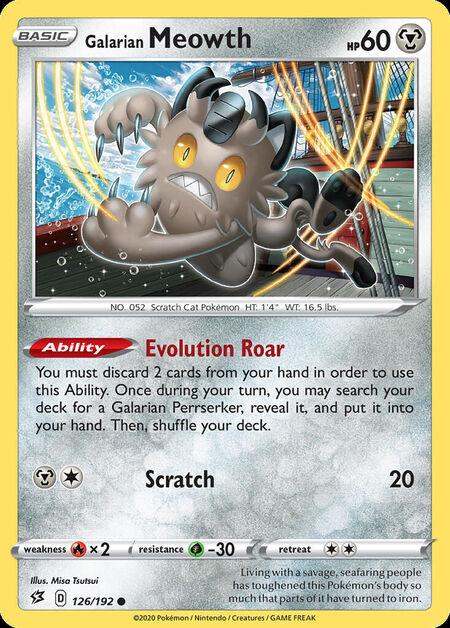 Galarian Meowth Rebel Clash 126