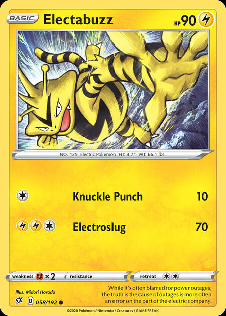 Electabuzz Rebel Clash 58
