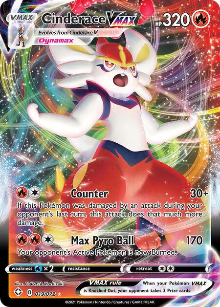 Cinderace VMAX Shining Fates 19