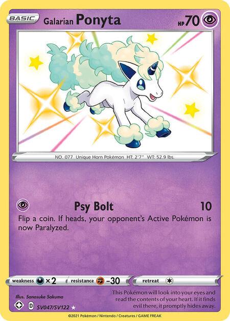 Galarian Ponyta Shining Fates SV47