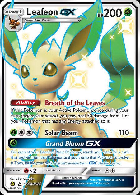 Leafeon-GX Shiny Vault SV46