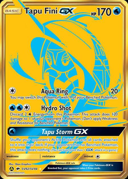 Tapu Fini-GX Shiny Vault SV92