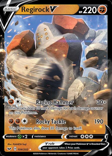 Regirock V Sword Shield 104