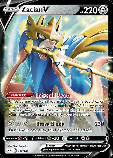 Zacian V Sword Shield 138