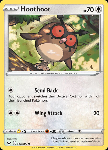 Hoothoot Sword Shield 143