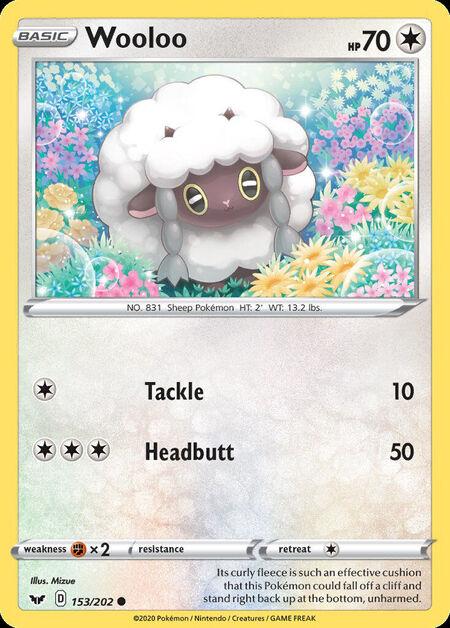 Wooloo Sword Shield 153
