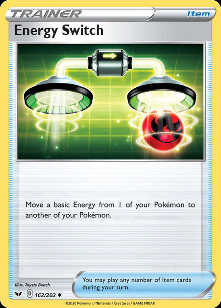 Energy Switch Sword Shield 162