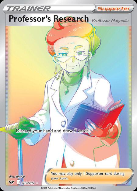 Professor's Research Sword Shield 209