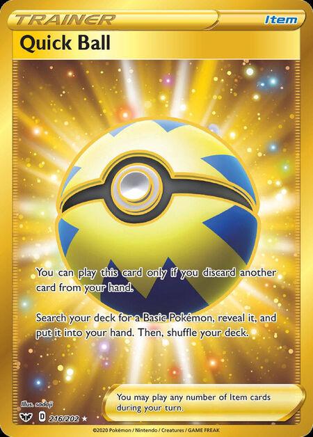 Quick Ball Sword Shield 216
