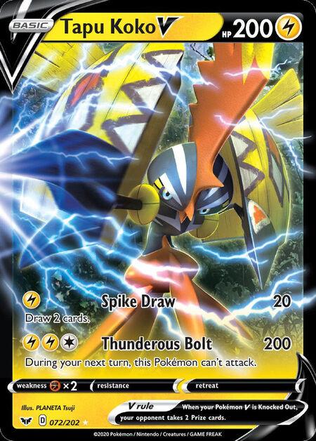 Tapu Koko V Sword Shield 72