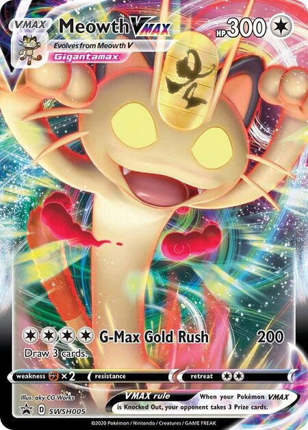 Meowth VMAX Sword & Shield Promos SWSH005
