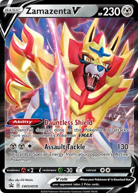 Zamazenta V Sword & Shield Promos SWSH019