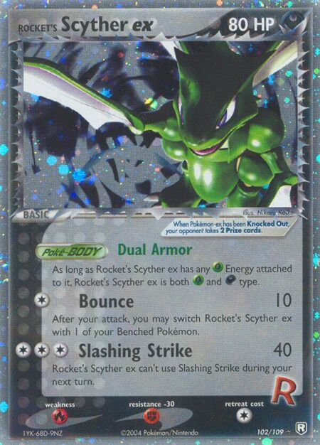 Rocket's Scyther ex Team Rocket Returns 102