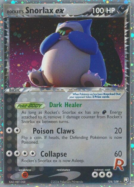 Rocket's Snorlax ex Team Rocket Returns 104