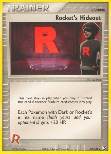 Rocket's Hideout Team Rocket Returns 87