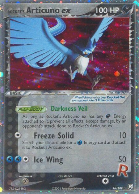 Rocket's Articuno ex Team Rocket Returns 96