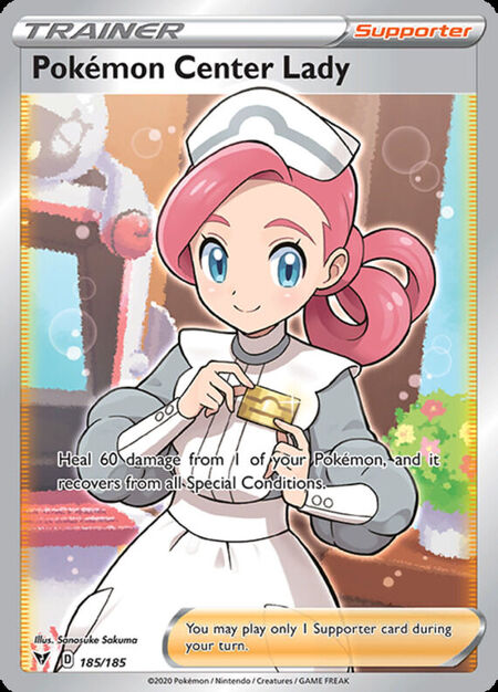 Pokemon Center Lady Vivid Voltage 185