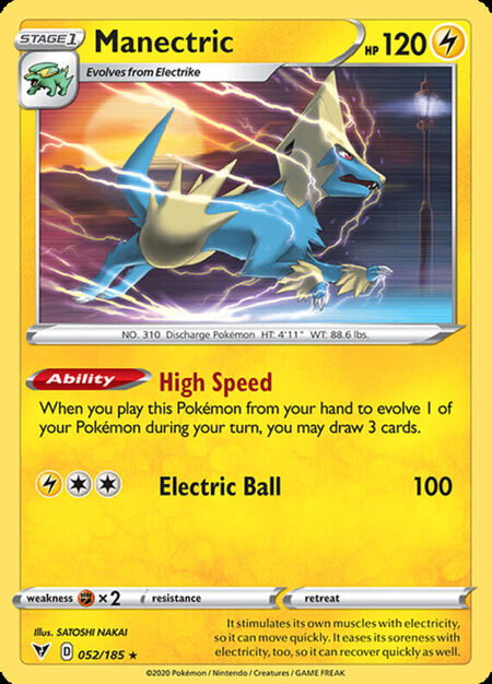 Manectric Vivid Voltage 52